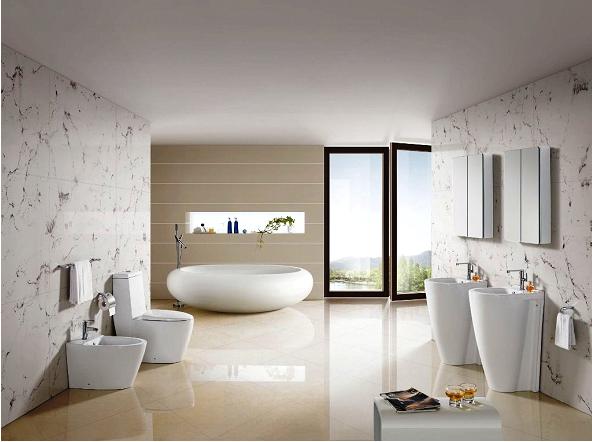 تثبيت أوراق الجدران في الحمامات يتطلب قدرا كبيرا من المهارة
