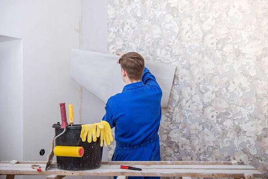 تركيب ورق الجدران باحترافية